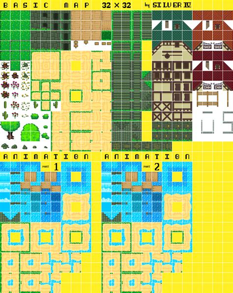 legend of zelda tilemap basic map 32x32 by silver iv opengameart org