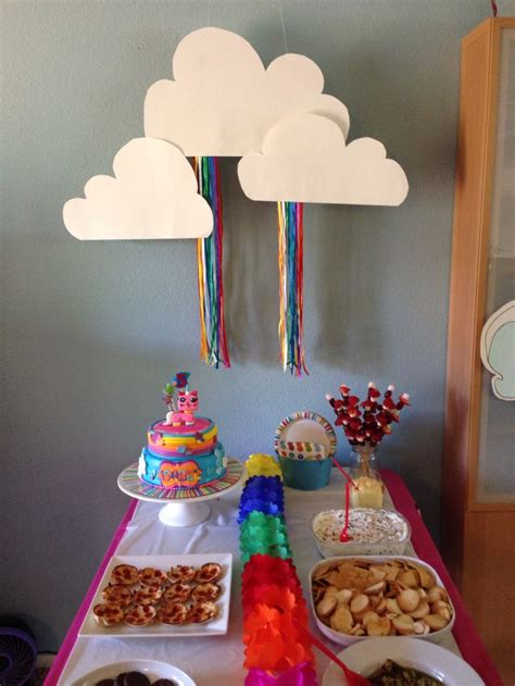 Cloud Backdrop With Rainbow Ribbons For Unikitty  Ee  Party Ee