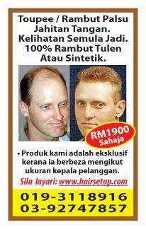 Jual Rambut Palsu Kuala Lumpur Rambut Palsu Jahitan Tangan Kelihatan Semulajadi 100 Tulen Atau Sintetik Services From Kuala