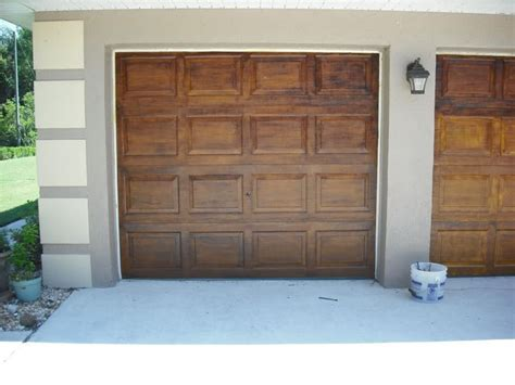 Garage Door Faux Wood Another Faux Wood Garage Door Tutorial Home