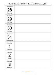 weekly printable calendar template weekly calendar 2015 free weekly calendar templates