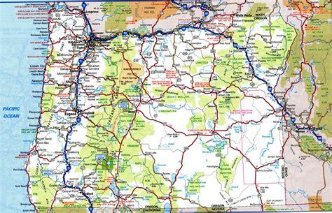 road map  idaho  oregon  travel information