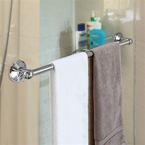 shower door towel bar chrome suction mount bathroom bath shower door towel bar