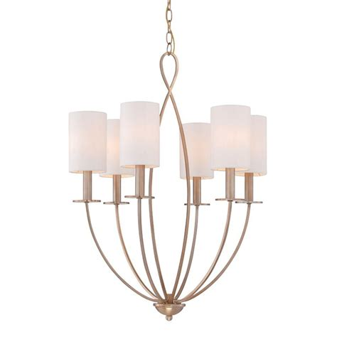 Chandelier With Fabric Shade Eurofase Castana Collection 6 Light Gold Chandelier With Fabric Shade 28072 010 The Home Depot