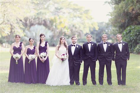 elegant purple and black bridal party elizabeth anne