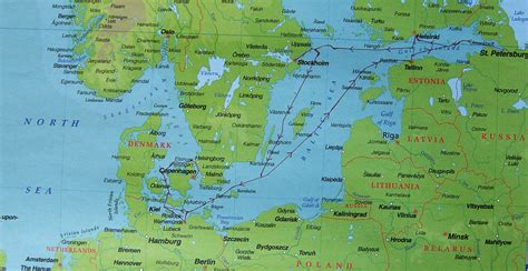 baltic sea map cruising scandinavia and the baltic sea