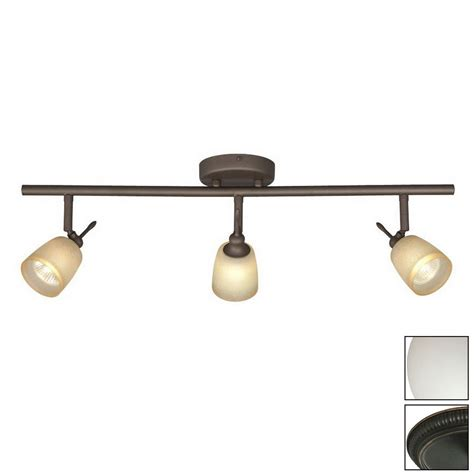 Track Pendant Lighting Shop Galaxy Fixed Track 3 Light Standard Rubbed Bronze Glass Pendant Linear Track Lighting