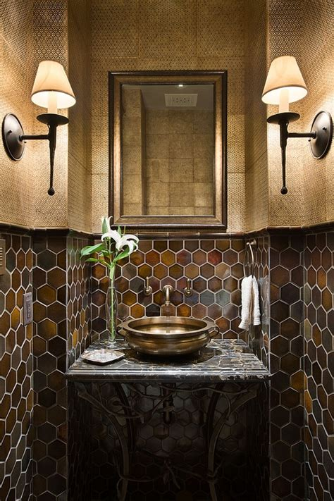 powder room tile ideas private quarters