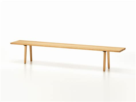 buy benches buy the vitra wood bench natural oak at nest co uk