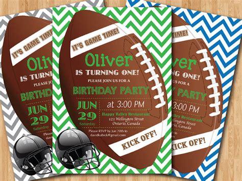 printable birthday invitations football theme birthday invites football birthday invitations for boys