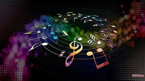 Couleurs composer notes de musique de musique multicolore