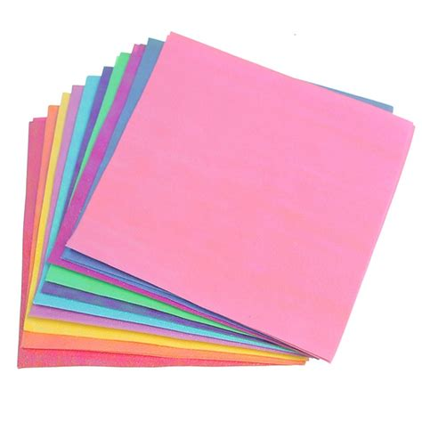 Folded Square Origami Paper - diy 50pcs set square origami paper single sided solid