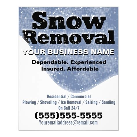 Snow Removal Winter Plowing Template Personalized Flyer Zazzle Junk Removal Flyer Template