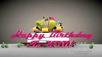 happy birthday to you hd 3d animated greeting e card cinema 4d animation