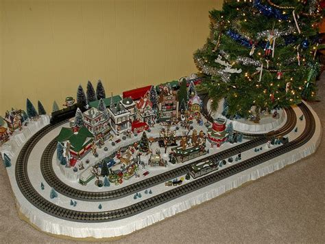 toy train going around top of a tree 17 best images about o trains on displays and jim o