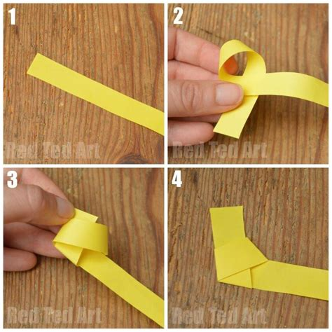 How To Make A Out Of Paper Strips - how to make an origami lucky ted s