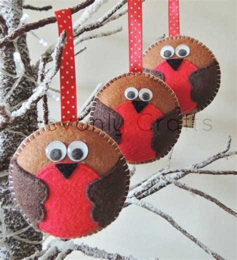 felt robin christmas decoration template best template idea