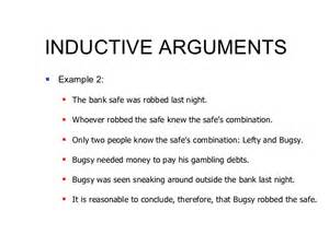 Deductive Essay Exle by Inductive Reasoning Examples Alisen Berde