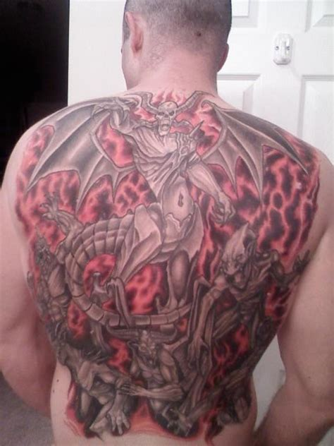 hell tattoos designs gates of hell demons on back tattooshunt