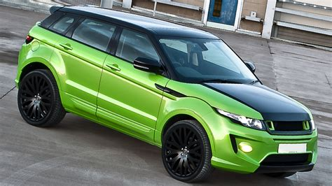 range rover dark green range rover evoque in lamborghini green pearl by kahn
