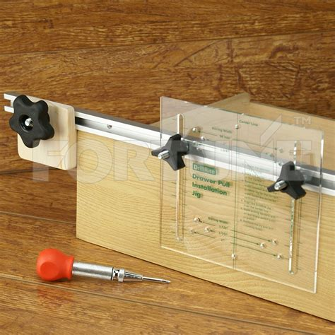 drillrite drawer pull jig system with punch pin tools and