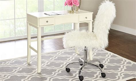 Faux Fur Desk Stool by Faux Fur Upholstered Desk Chair Groupon