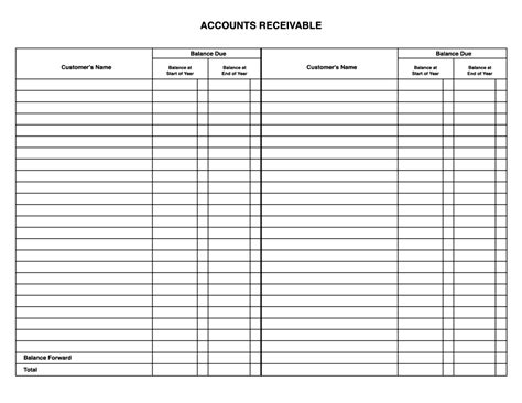 Accounting Template by Account Ledger Template Masir