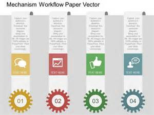 Gears With Tags For Workflow Mechanism Powerpoint Template Powerpoint Templates Powerpoint Workflow Template