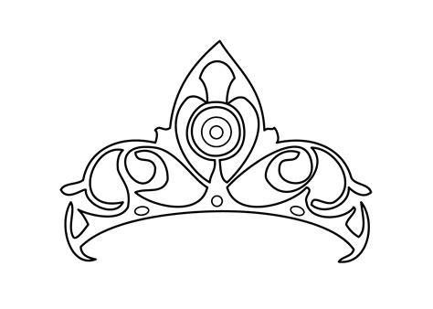 crown color princess tiara coloring pages coloring home