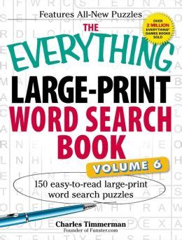 the everything large print tv word search book volume 2 120 must see word searches for tuned inâ tv fans books the everything large print word search book volume vi