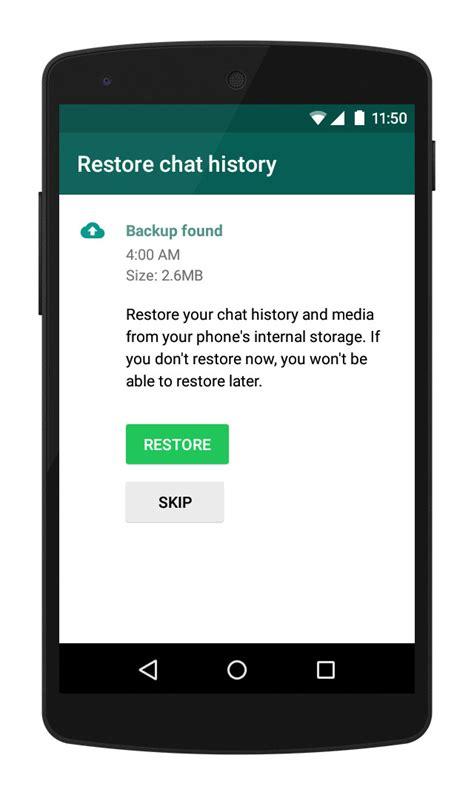 reset android whatsapp whatsapp faq how do i restore my messages