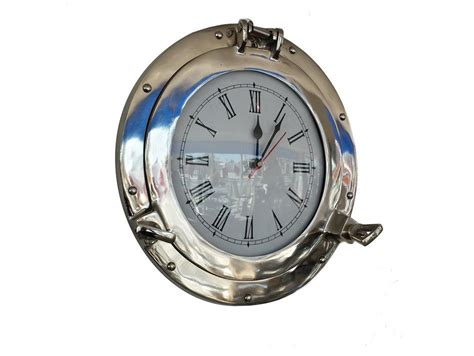 chrome theme clock buy chrome decorative ship porthole clock 15 inch
