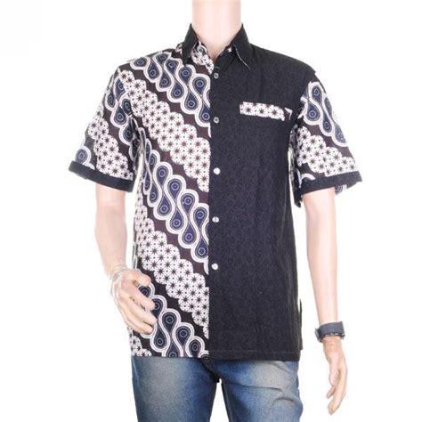 Hem Batik Embos by Baju Atasan Pria Kemeja Hem Batik Kombinasi Embos