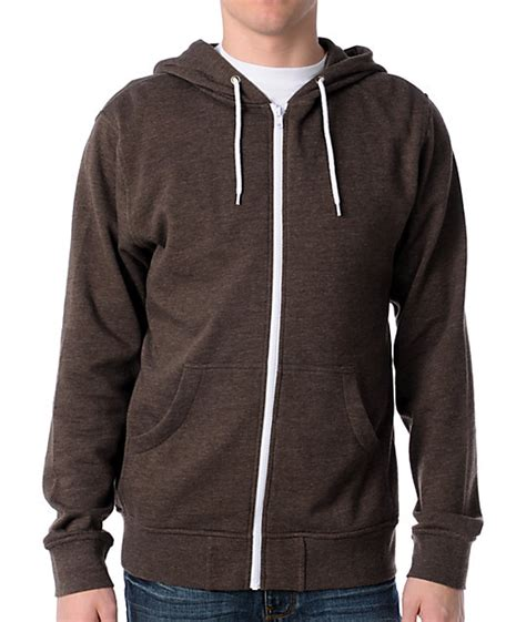 Promo Zipper Hoodie Brown august 2015 baggage clothing