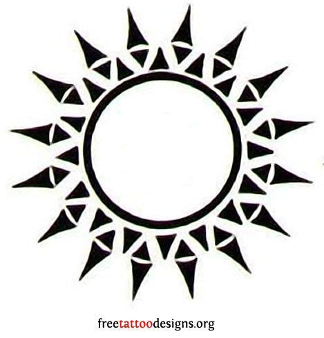 tribal sun tattoos meaning 65 sun tattoos tribal sun designs