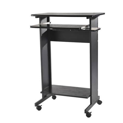standing portable desk homcom portable standing workstation computer desk
