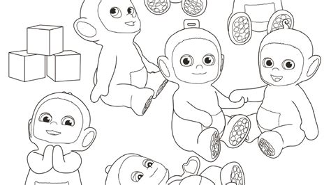 coloring pages that have names on them things to do teletubbies