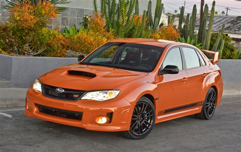orange subaru impreza 2013 subaru wrx review ratings specs prices and photos