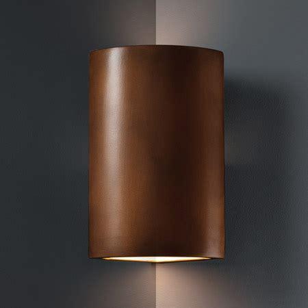 Justice Design CER 1885 ANTC Ambiance Cylinder Corner Sconce