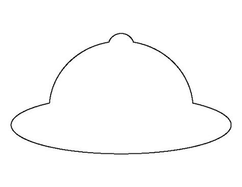 safari hat pattern use the printable outline for crafts