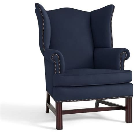 Upholstered Accent Chairs by Thatcher Upholstered Wingback Chair Cadet Navy Twill