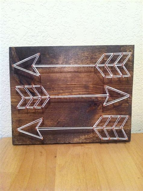 Wood And String - customize your own arrow string on a 7x9 solid wood