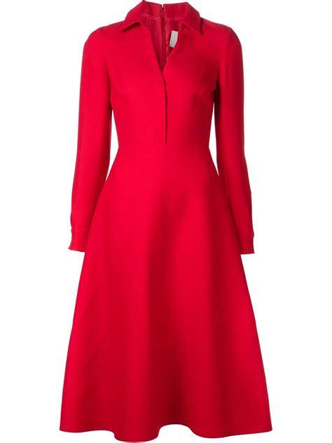 A Line Shirtdress lyst valentino aline shirt dress in