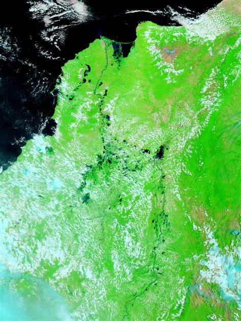 imagenes satelitales falso color mapa de norte de colombia antes de las inundaciones