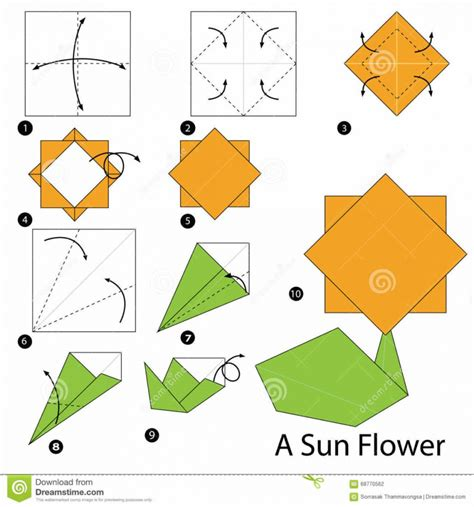 How To Make A Flower Origami - simple step by step origami flowers style by