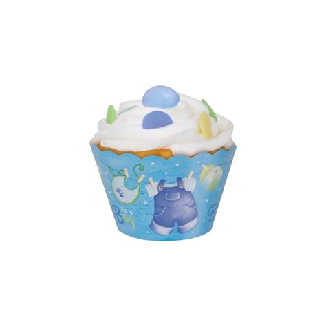cupcake holders for baby shower it s a boy cupcake wrappers