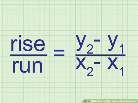 slope equation 3 ways to find the slope of an equation wikihow