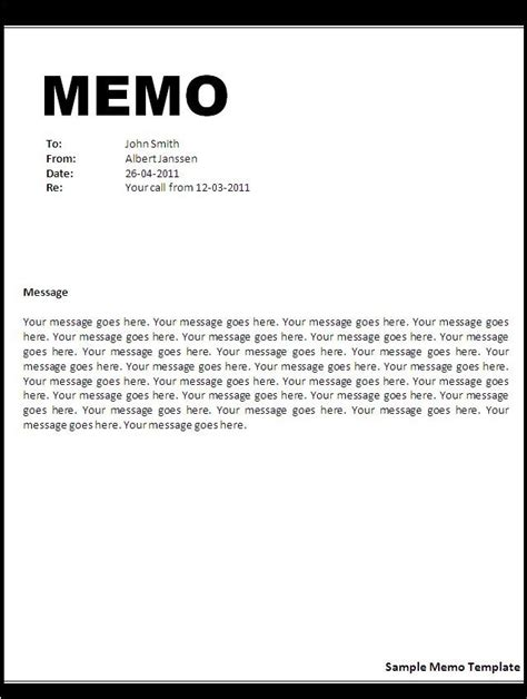 Memo Sle In Tagalog business memo format microsoft word exles and forms