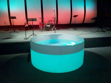 portable baptismal pool baptisms church stage design ideas