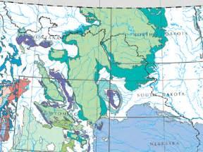 underground water maps paleozoic aquifers
